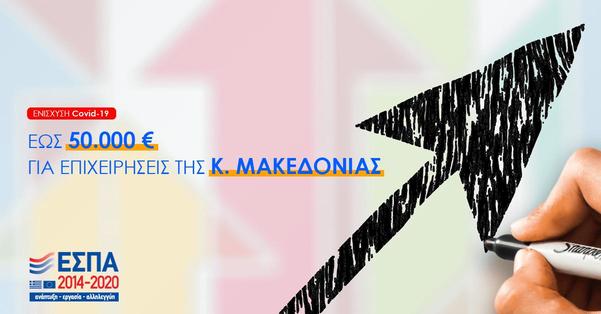 Πρόγραμμα ενίσχυσης 5.000€ έως 50.000€ για επιχειρήσεις της Κεντρικής Μακεδονίας που έχουν πληγεί από την πανδημία