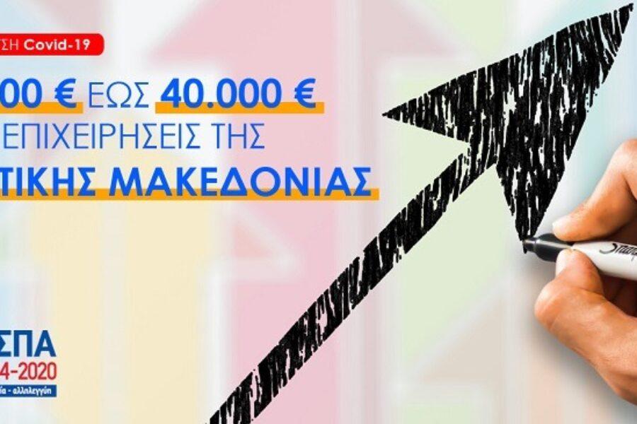 Πρόγραμμα ενίσχυσης 5.000€ έως 40.000€ για επιχειρήσεις της Δυτικής Μακεδονίας που έχουν πληγεί από την πανδημία